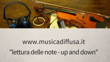 lettura delle note - up and down
