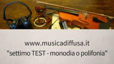 TEST - monodia o polifonia
